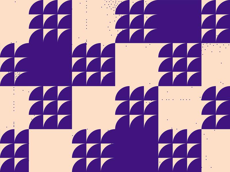 Pattern #18 - Textile textile pattern small dots purple motion minimal illustration geometric pattern flat dynamic pattern square pattern shape pattern abstract