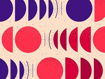 Circle dynamics circles implied motion flat geometry illustration geometric pattern minimal small dots shape pattern bold abstract circle pattern
