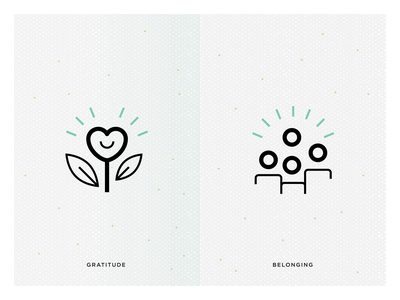 Gratitude and belonging icons social purpose ethical principles marketing icons line icons job icons dynamic icons principle icons value icons business icons business ethic icons belonging icon gratitude icon