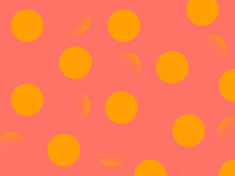 Polka Dot pattern shape pattern abstract minimal feminine sophisticated circles pink yellow red geometric pattern pattern polka dots