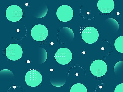 Green Circle pattern subtle illustration pattern polka dots color green minimal circles abstract shape pattern geometric pattern circle pattern