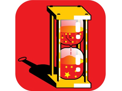 Video Game Time Limit in China technology china logo design editorial abstract contemporary caricature illustrator illustration vector