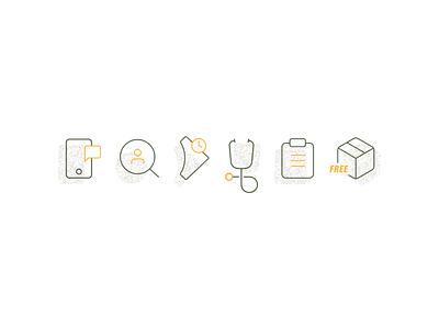 Custom Iconography ecommerce icon set health wellness iconography icons
