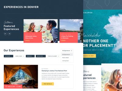 Manifest Travel Site typography layout uidesign web design travel