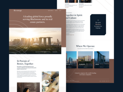 Elegant Commercial Real Estate business typogaphy photography uxdesign layouts real estate