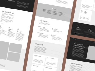Commercial Real Estate Wireframes information architecture information typogaphy business real estate wireframes