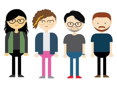 Round Head People illustration people
