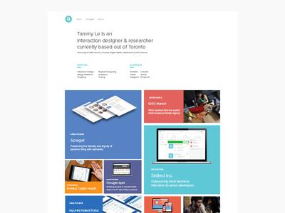 tammyle.ca — future portfolio 2017 grid web website portfolio identity personal branding