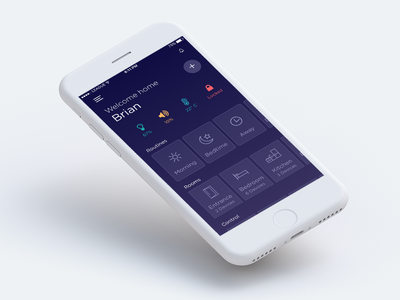 Smart Home Automation App dark ui automation mobile app smart home