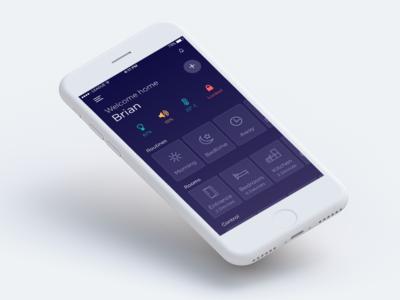 Smart Home Automation App dark ui automation mobile app smart home