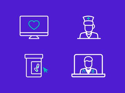 Health Icons nurse doctor medication pharmacy healthcare health icons illustration