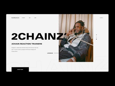 VERSACE - 2CHAINZ' landing page