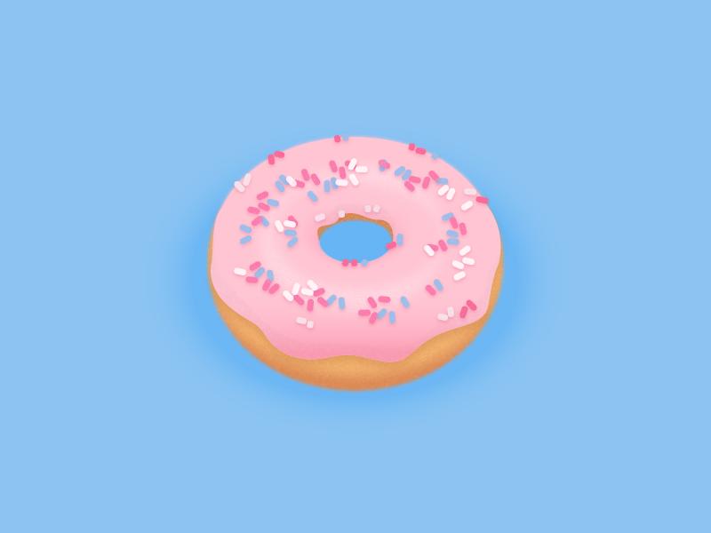 Donut illustration food sweet sprinkles donut