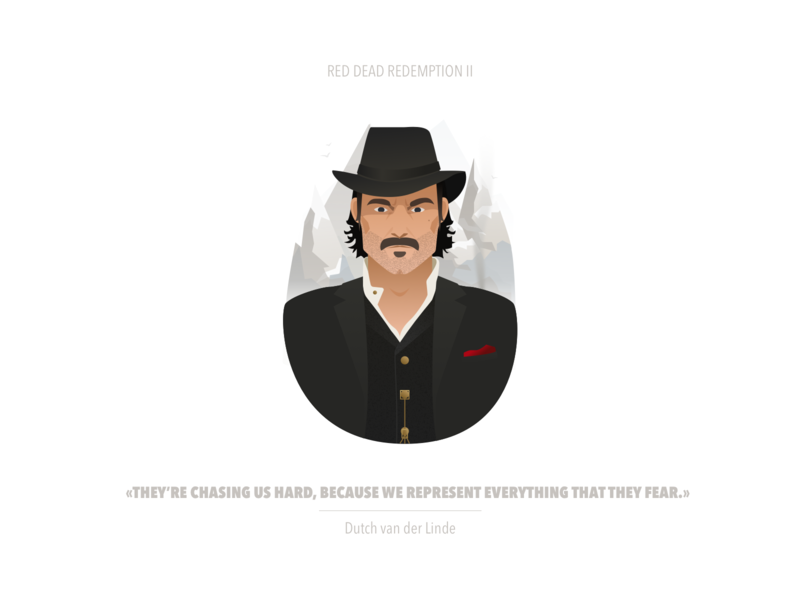 Red Dead Redemption II | Dutch van der Linde thief red dead redemption rdr2 illustration game fanart cowboy character