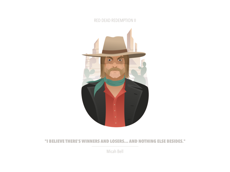 Red Dead Redemption II | Micah Bell thief red dead redemption rdr2 illustration game fanart cowboy character