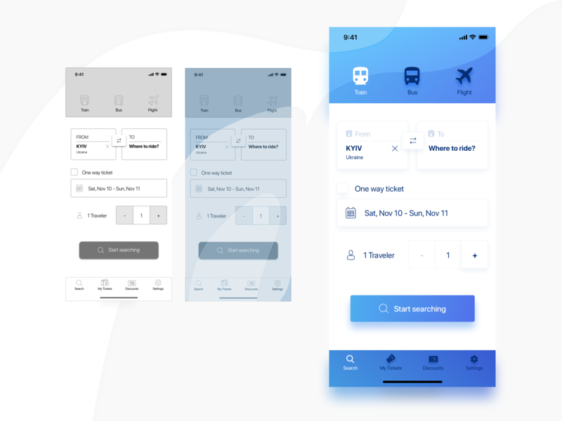 Travel App Design Concept ux ui travel flight transport tickets booking mobile ios app