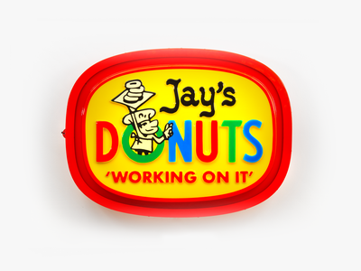 Jay's Donuts vin conti jay dilla detroit type lettering illustration sign signage donuts
