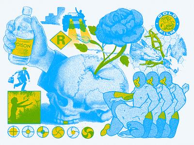 Collage vin conti collage art halftone index color movie poster cinema movie collage