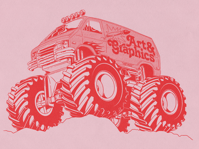 Closer 'Quaran'zine closer vin conti texture type halftone monster truck illustration zine