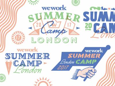 Summer Camp lettering vintage badge flag uk london camp summer camp
