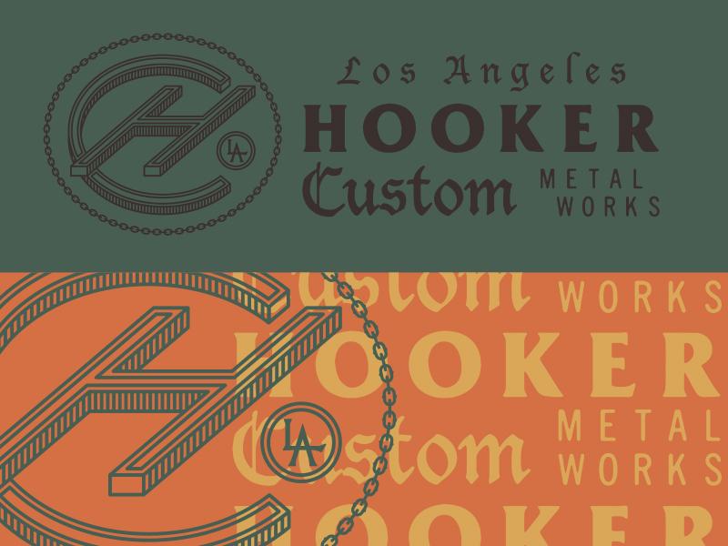 Hooker Custom Metal Works monoweight monogram black letter hooker furniture welding metal