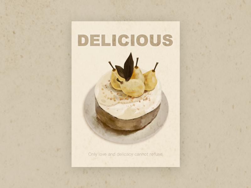 NO.5 cake food illustrations
