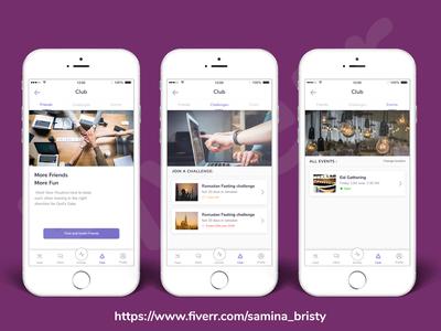 App UI Design for Muslim Hub App