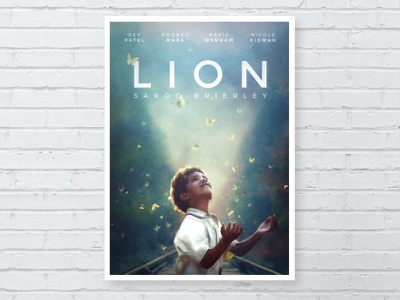 Lion Poster illustration drama lion movie poster typography film design poster movie