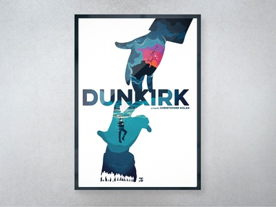 Dunkirk Poster texture photoshop digital artwork water typography design creative illustration movie poster blue