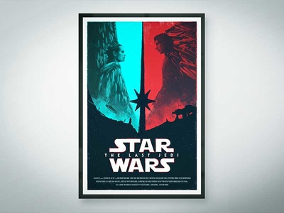 Star Wars - The Last Jedi photoshop print design illustration movieposter poster film movie red blue thelastjedi starwars