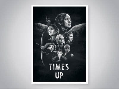 Time's Up harrypotter hungergames brave blackpanther starwars mulan got women digital cover art photoshop film movie poster design illustration
