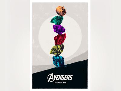 Avengers Infinity War stone art infinitywar marvel avengers cover photoshop movie film design poster illustration