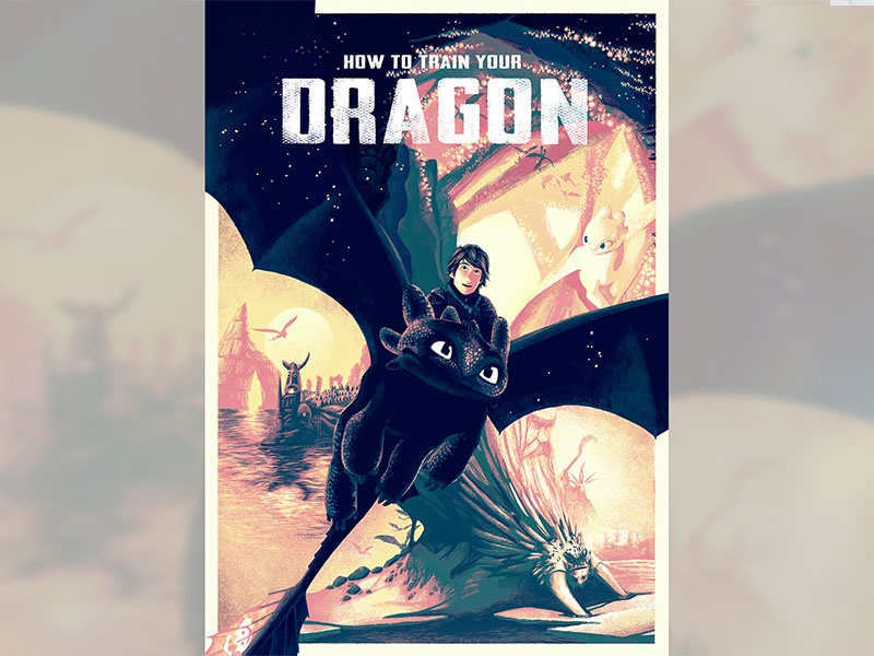 How To Train Your Dragon competition finalist dreamworks how to train your dragon movie poster adobe digital art film photoshop poster movie design illustration