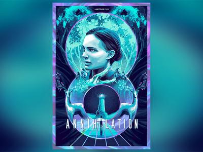 Annihilation - Poster Posse x Netflix natalie portman annihilation poster posse netflix movie poster adobe digital art film photoshop poster movie design illustration
