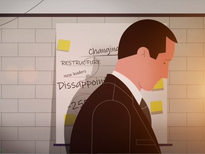 Disappointed man management man suit disappointed office illustration businessman
