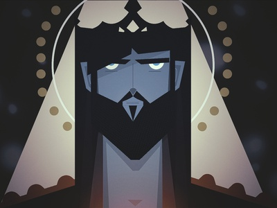 The Savior the king king flat vector wise man motion graphics illustrator character