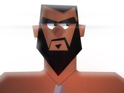 The Savage illustrator angrry flat vector motion graphics illustration characterdesign character