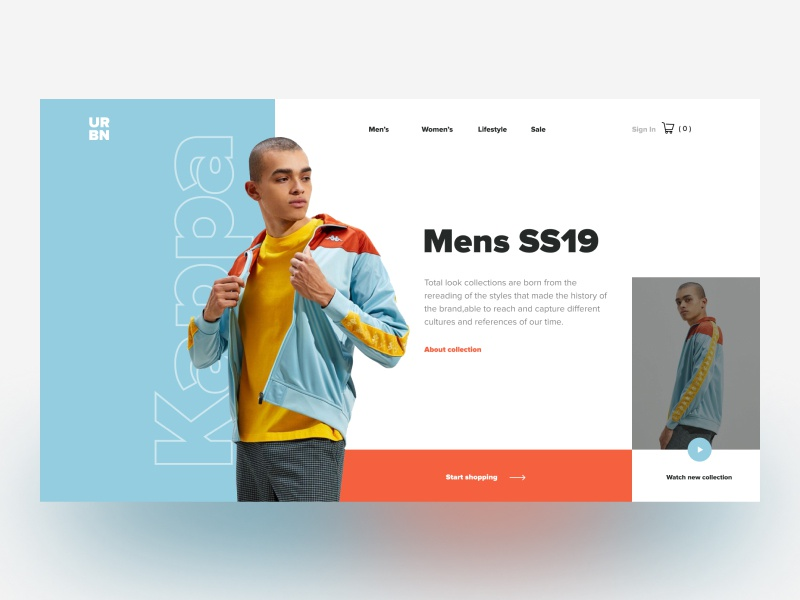 URBN - Online store concept casual user-interface online-store ecommerce ux figma concept uxdesign website clothes