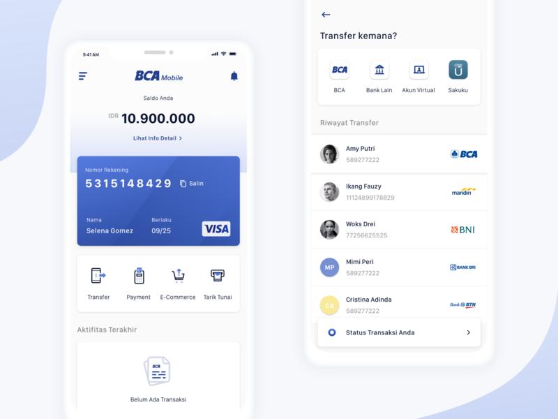 BCA Mobile Redesign mobile design uiux ux design mobile app ui design mobile banking payment banking bca mobile bca