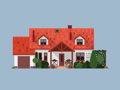Home, sweet Home illustration architecture house home