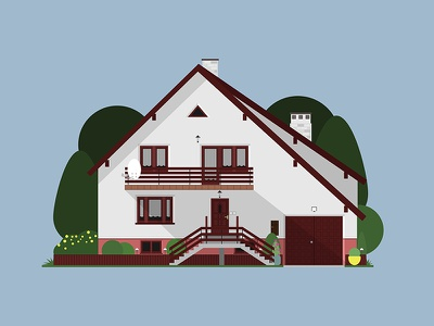 House illustration architecture house home