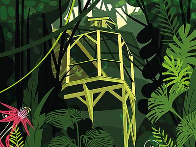 Finca Bellavista costa rica green leaves treehouse jungle