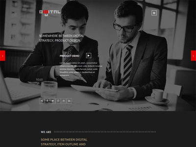 Digital - Business HTML Template portfolio modern model design creative corporate company clean business bootstrap blog agency