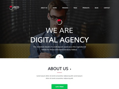Red Leaf – Portfolio Agency Template personal onepage one page multipurpose modern mansonry designer creative corporate business bootstrap agency