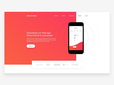 SmartHome freebie [WIP] iphone technology laniding app smarthome smart marketing freebie landing page