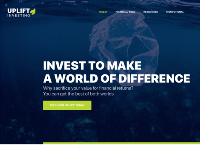 Uplift Investing website design