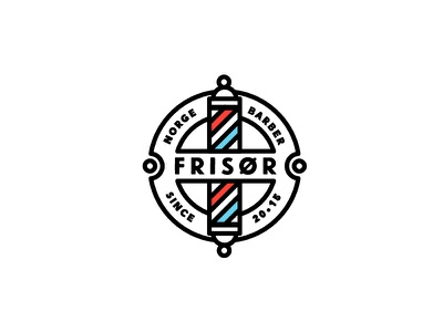 frisor norge barber brand design symbol icon typography logo brand barber haircut norway norge friseur