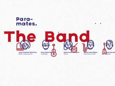 the band, paramates packaging line characters instruments sound music cartoon cover illustration design jazz band