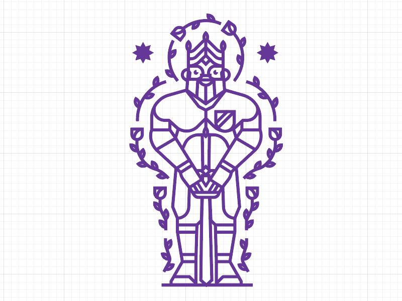 king throne warrior illustration roses brand logo stroke king medieval sword knight kingdom