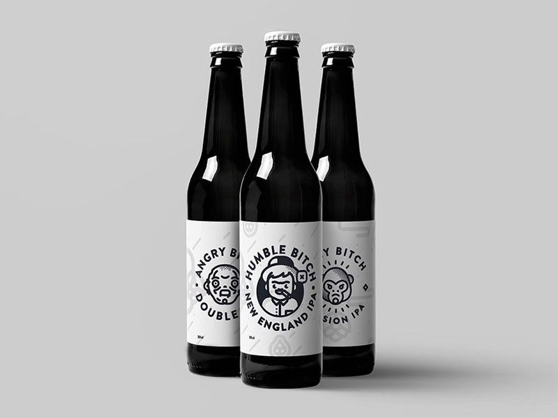 black bitch brewing co. 2017 bottle ipa graphic character label packaging hops beer brewing